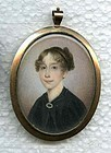 Miniature Portraitof a Woman by Joseph Wood  c1825