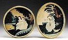 American Mourning Pictures  A Superb Pair  c1835