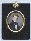 Thomas Seir Cummings Miniature Portrait  c1835