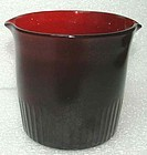 Wine Rinser in Rare Deep Red Color  1st Q 19th C