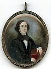 Abraham Parsell Miniature Portrait  c1840
