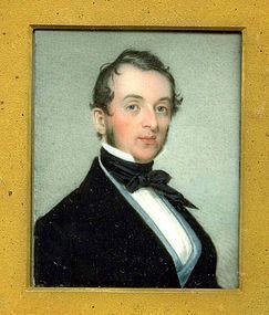 Richard Staigg Miniature Portrait c1845