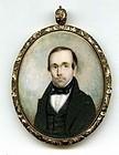 American Miniature Portrait Painting c1840