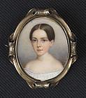 John Carlin Miniature Portrait c1852