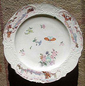 Superb Chelsea Porcelain Warren Hastings Plate c1755
