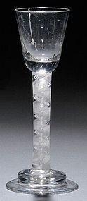 Irish Cordial Wine Glass  c1755