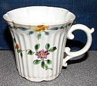 Early Dr. Wall Worcester Coffee Cup c1753