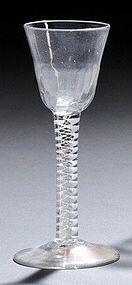 English Georgian Wine Glass c1765