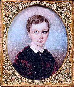 Beautiful Miniature Portrait of Child  c1850