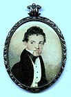 Fine Miniature Painting of Young Man c1835