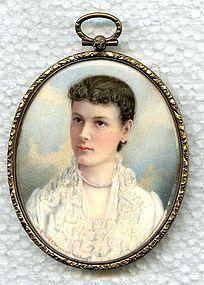 Gerald S. Hayward Miniature Painting c1883