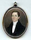 Jeremiah Paul Miniature Portrait c1815
