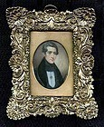 Theodore V. Peticolas Miniature Portrait c1841