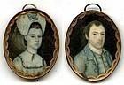 Rare Joseph Dunkerley Pair of Miniature Portraits c1780