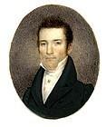 Fine American Miniature Portrait c1830