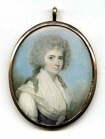 Superb John Barry Miniature Portrait c1785