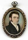 Raphaelle Peale Miniature Portrait c1810