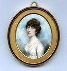 Beautiful Andrew Plimer Miniature Portrait c1795