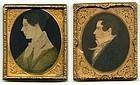 A Pair of James Mitchell Cox Miniature Portraits c1835