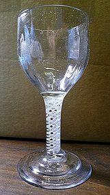 Antique English Opaque Twist Wine Glass Goblet c1765