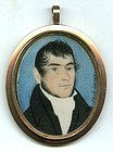 Miniature Portrait Painting in Gold Case c1816