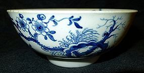 Dr. Wall Worcester Porcelain Prunus Root Bowl  c1758