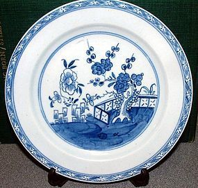 Early and Fine Bow Porcelain Plate  c1753
