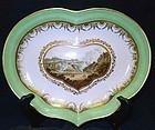 Derby Porcelain Dish by Boreman c1795