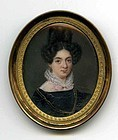 Fine Italian Miniature Portrait 18th c