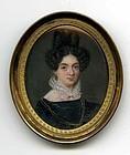 Fine Italian Miniature Portrait 18th c