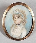 Fine Portrait Miniature of a Woman c1790