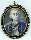 Early Portrait Miniature of a  Military Gent c1750