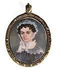 Beautiful American Portrait Miniature c1830