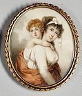 A Beautiful Miniature Portrait Painting, English c1820