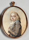 Striking Miniature Painting Attributed to Abraham/Joseph Daniel c1790