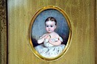 Beautiful Portrait Miniature of Child c1830