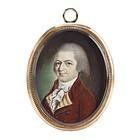 Rare John Ramage Portrait Miniature c1790