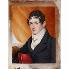 A Striking Miniature Portrait Painting c1835
