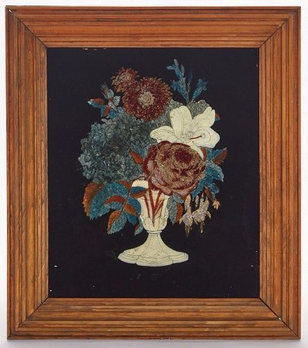 A Fine American Tinsel Painting 19th Century