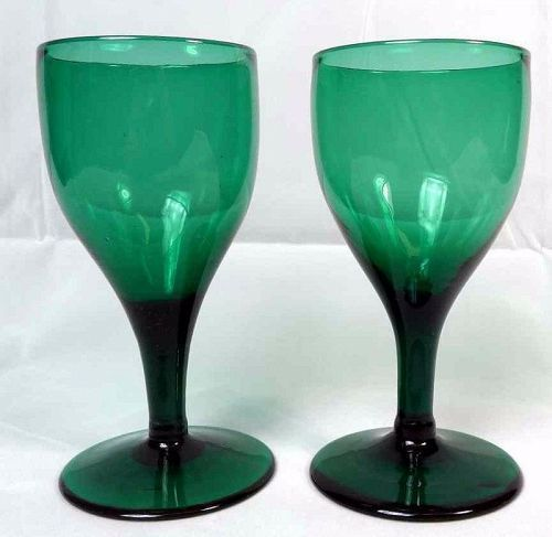 A Pair of Colored Wine Glasses c1790