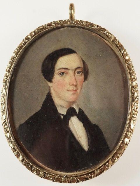 Rare W.E. Mynerts American Miniature Portrait c1838