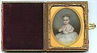 Beautiful American Portrait Miniature of Child c1830