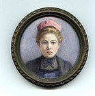 American Portrait Miniature by Myra Boyd c1906