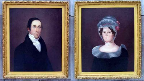 A Good Pair of American Portraits c1812