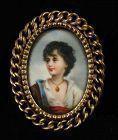 A Miniature Portrait of a Gorgeous Child 19th Century