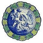 Rare English Salt Glazed Plate   c 1769