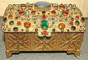 Austrian Bronze Jewelry Box  c 1930