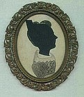 New England Hollowcut and Painted Silhouette  c 1820
