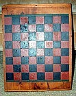 Child's Painted Gameboard; C 1890