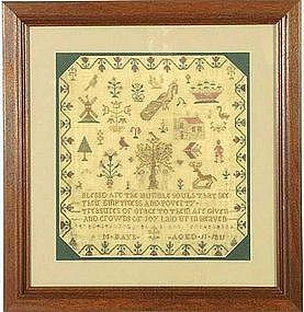 "Signed ""Tree of Life"" Sampler C 1811"